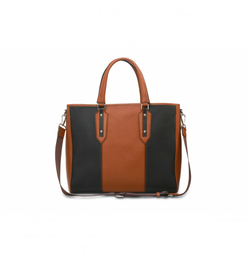 Eensy Weensy Stylish Flexy Handbag / Camel & Black