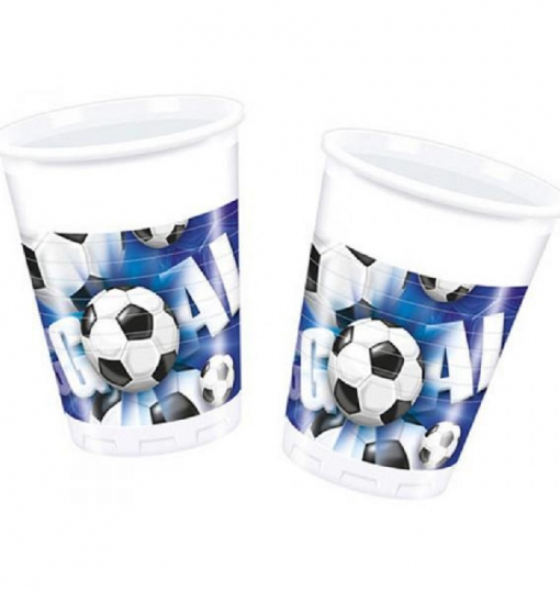 10 Plastic Cups 180/200Cc Football