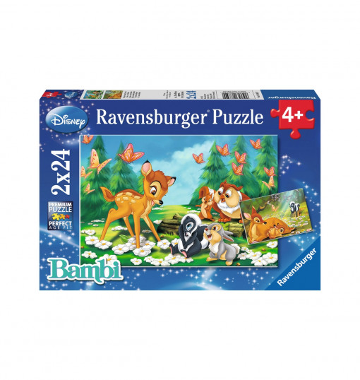 Ravensburger 2x24p Puz WD Animal Friends